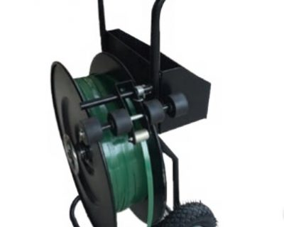 Strapping Tools – Heavy Duty Dispenser On Wheels-For Steel/Pet Strapping-For Core 250/400mm Black 12.14