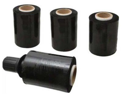 Black Bundling Film Roll With 1 Hand Dispenser 100mm 20Um 20 Rolls/Ctn-Sfb06-C