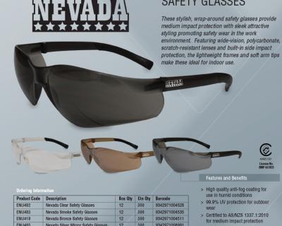 NEVADA SILVER MIRROR SAFETY GLASSES 12/BOX-ENU485