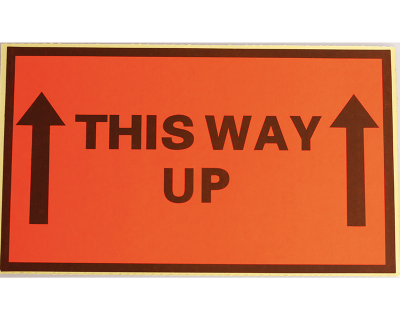 Fluoro Labels-THIS WAY UP 130Mmx75Mm 500/Box-L003
