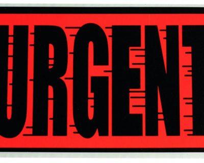 Fluoro Labels-URGENT 130mmx75mm 500/Box-L011