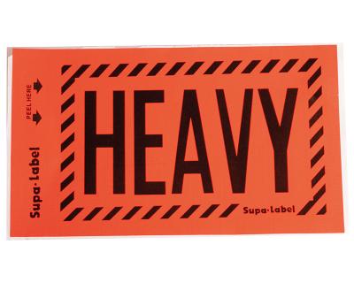 FLUORO LABELS-HEAVY 129MMX75MM 500/BOX-L007