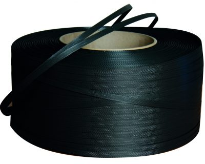POLYPROPYLENE STRAPPING 12MM X 2000M BLACK  406mm core 1 ROLL-11.08