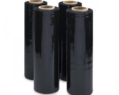BLACK CAST STRETCH FILM-HAND ROLL 500MM 25UM 4 ROLLS/CTN-SFB01-C