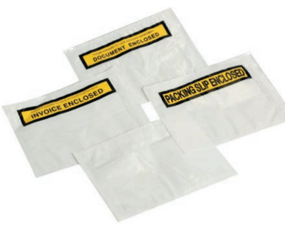 CLEAR BACKED ADHESIVE ENVELOPES