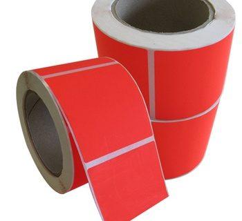 FLURO RED PALLET LABEL 150MMX210MM 500/ROLL-L019 RED