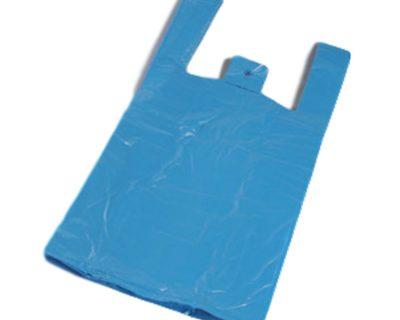 SINGLET BAGS 300+200 X 600 20UM BLUE 2000/CARTON-16.04