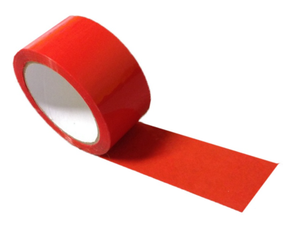 RED ADHESIVE PACKAGING TAPE -TAPE 19