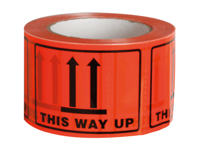 THIS WAY UP print TAPE LABEL PERFORATED 72MMX100MM 500 LABELS/ROLL-9.02
