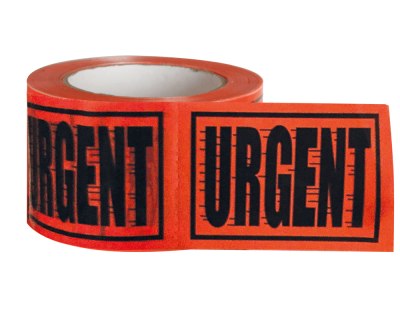 URGENT print TAPE LABEL PERFORATED 72MMX100MM 500 LABELS/ROLL-9.04