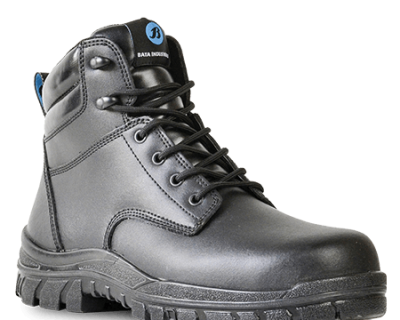 Black Leather Lace Up Safety Boot – Saturn 705-60510