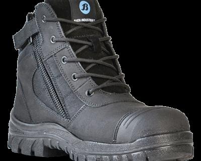 Steel Toe Zip Sided Safety Boot – Zippy Black 804-66641
