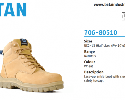 Wheat Nubuck Lace Up Safety Boot – Titan 706-80510