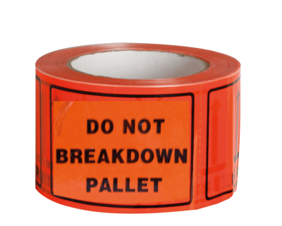 Do Not Breakdown Pallet Lable Perfd  500/Roll 72Mmx100mm-9.12