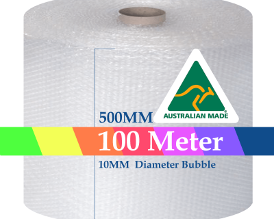 Bubble Cushioning Wrap Roll 500mm x 100M Air Bubble Clear 10mm Bubbles POSTAGE AUS WIDE