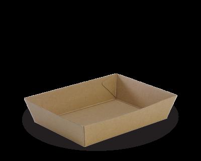 Cake / Food Tray No. 24-BROWN KRAFT 175 x 255 x 55mm 200 Per Carton-WNCT24ECO