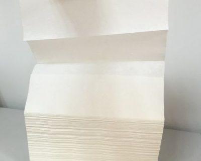 Interleaved hand towel z fold 1 ply 23x23cm 200 sheets/pack 20 packs/CTN-19.41
