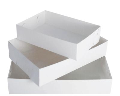 Cake / Food Tray No. 25 Double White 205mm x 295mm x 55mm 200 Per Carton-WNCT25W(200)