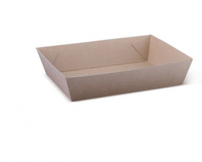 Corrugated Kraft Tray – Size 5 Sleeve 50 Brown 252 x 179 x 58mm 100 Per Carton-WNKT-5