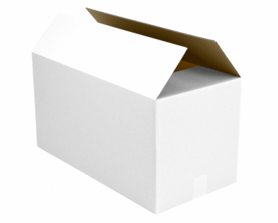 365x280x95mm 'Mid Size, Low Height' Box WHITE – Pack of 20-Box-R19x20