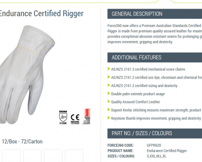 The Endurance Rigger Glove S-2XL 12 Pairs-GFPR620