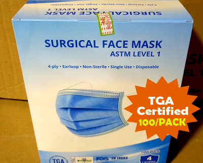 Surgical Face Mask 4 Ply Disposable Pack of 100