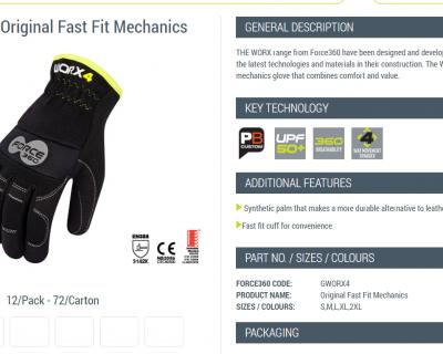 Fast Fit Mechanics Glove S-2XL 12 Pairs-GWORX4